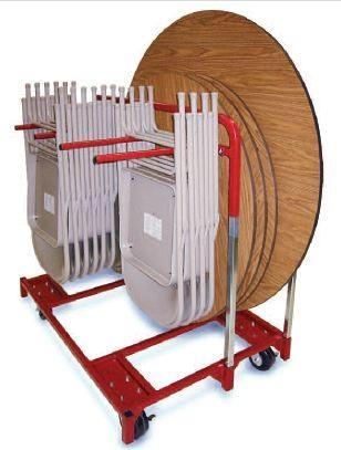 folding chair dolly papa sun round table and cart combination-handtrucks2go.com