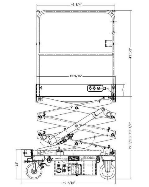 Order Picker Platform up to 10 Foot Lift Height Reach