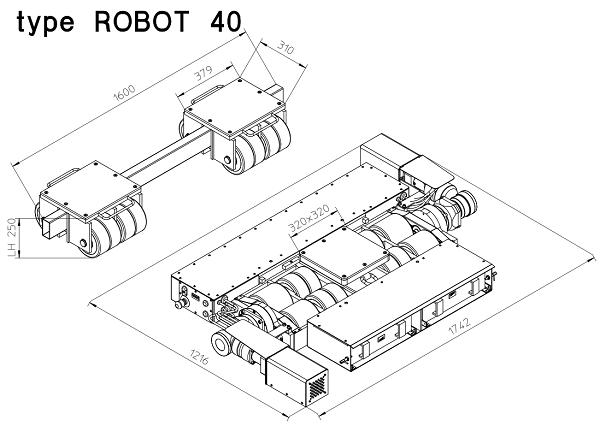 88,000 lb (40 Ton) Battery-Powered Rotating Dolly