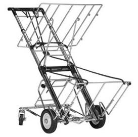 telescoping cart, upper deck and kickout wheels-400 lb