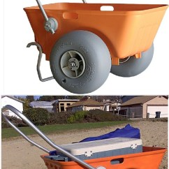 Compact Travel Beach Chairs Small Table And For Kitchen Uk Wheeleez Tub Cart With Big Wheels Soft Sand
