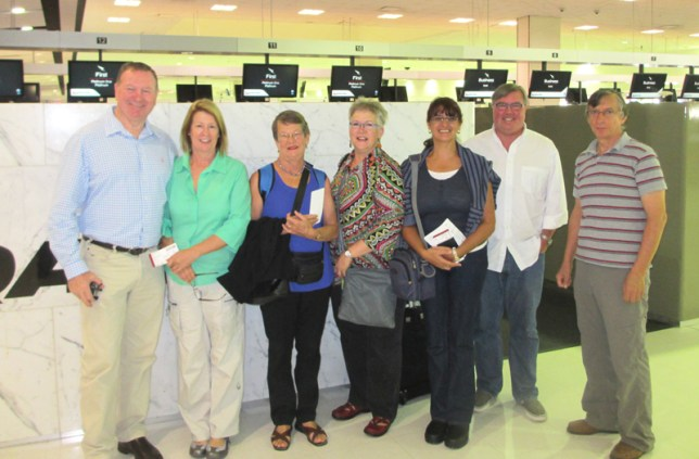 Congo team and their partners at Sydney airport, prior to departure Feb 24th.