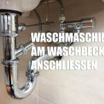 Waschmaschine Am Waschbecken Anschliessen Handwerker Ratgeber