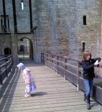 Playing on the drawbridge