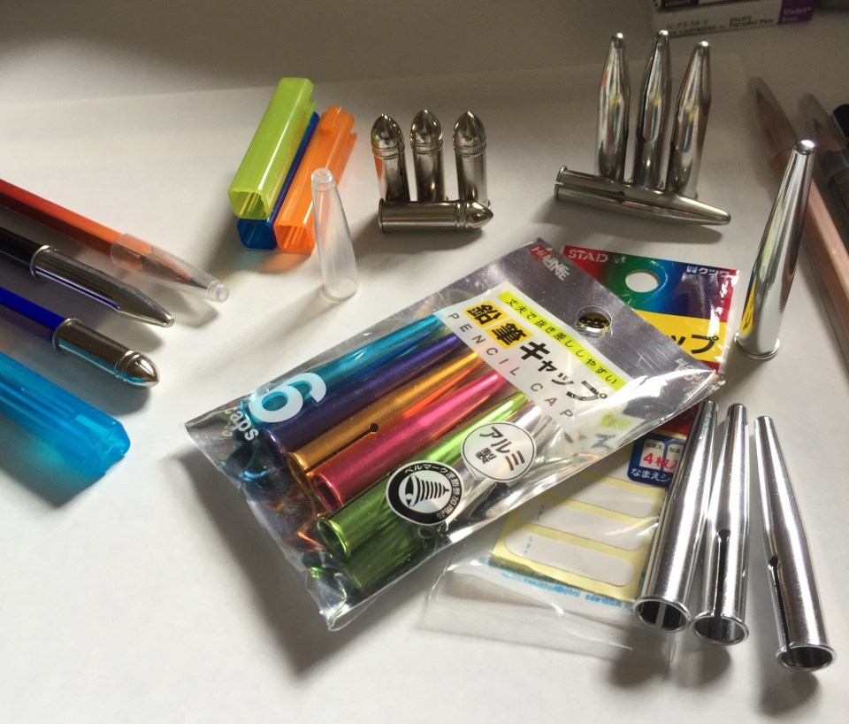 a variety of pencil point protectors