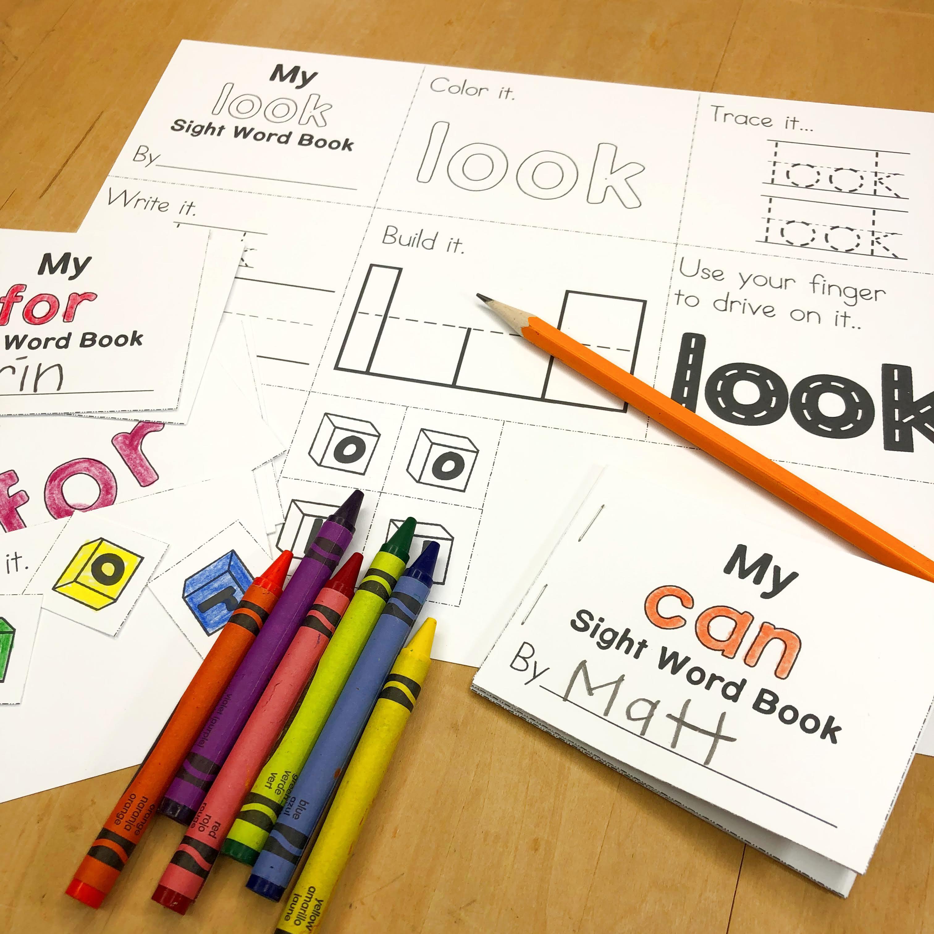 Sight Word Mini Books