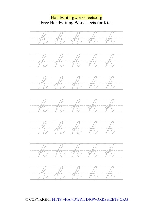 Cursive Alphabet Handwriting Letter Worksheets With Arrows