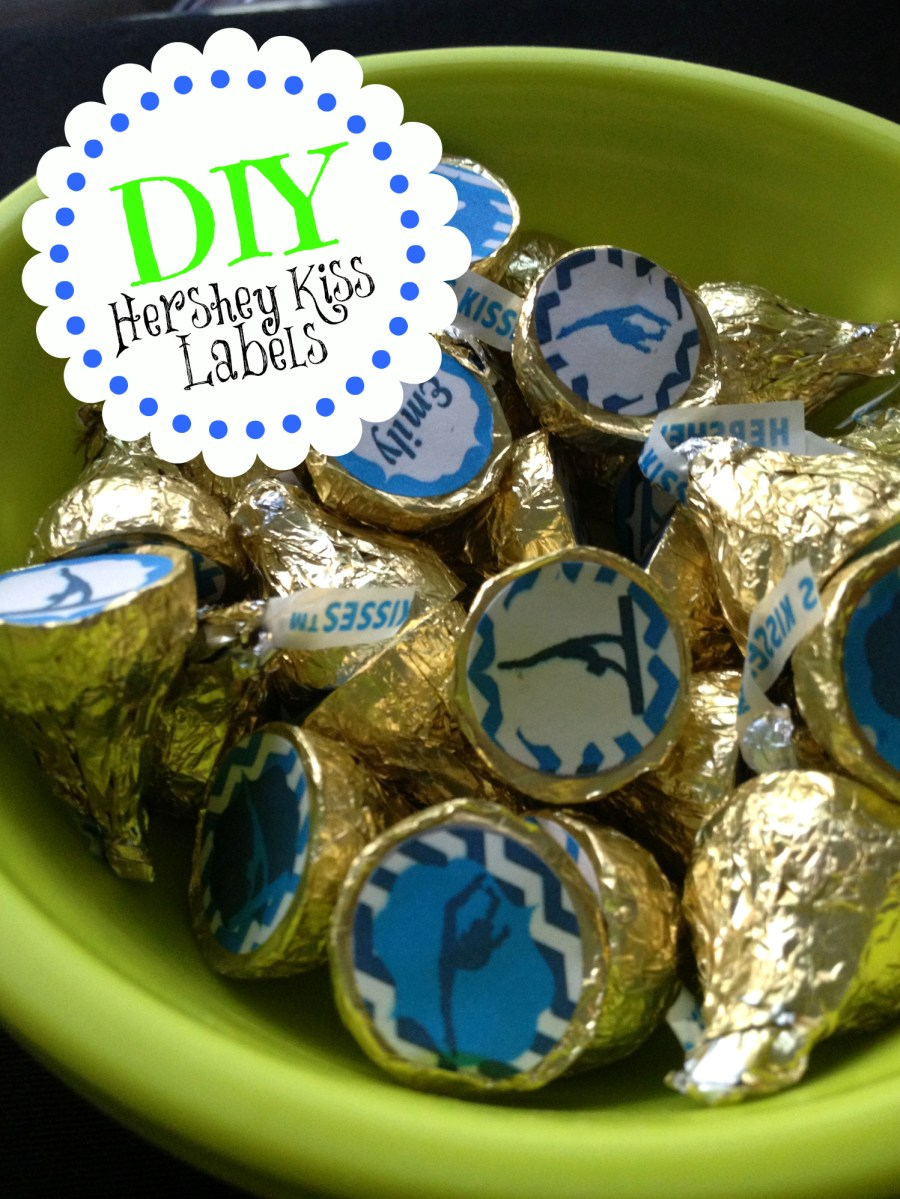 A Kiss For A Gymnast DIY Hershey Kiss Labels The Hand X Stand