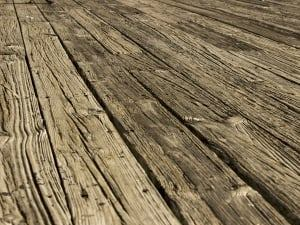 Timber Waste Old Deck