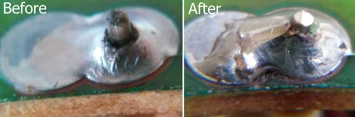 Cold Solder Joint >> Broken Solder Joint An Easy Fix For Printed Circuit Boards