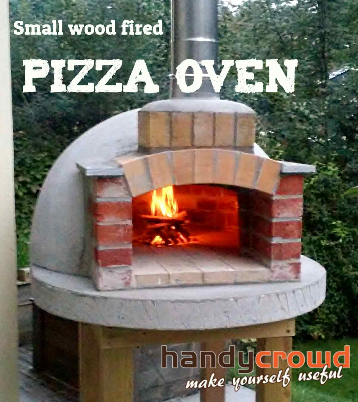 build small wood fired pizza oven 75cm or 30. Black Bedroom Furniture Sets. Home Design Ideas