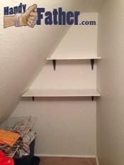 Simple Shelves De-Clutter linen closet