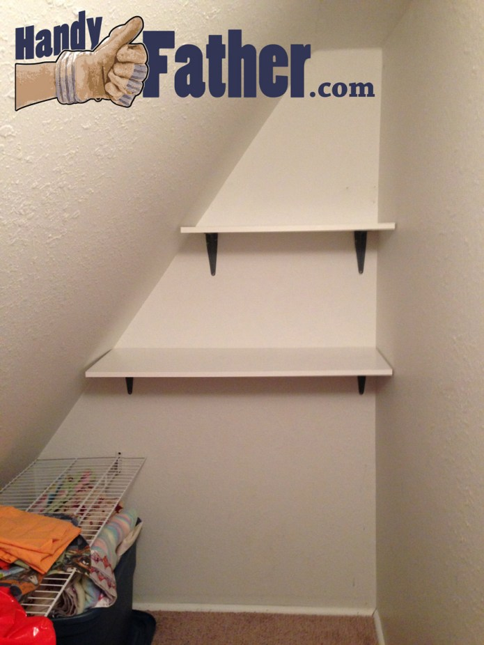 Simple Shelves De-Clutter linen closet