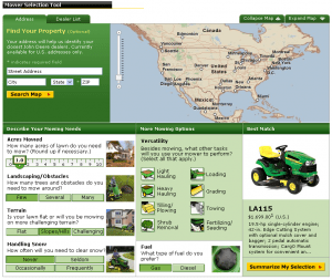 John Deere Mower Selection Tool