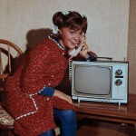 Sally Field as Gidget on the phone with TV