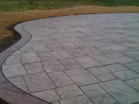 Stamped Concrete and hardscaping ideas and assistance