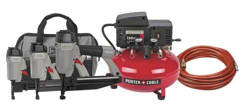 selecting pneumatic nailers - Nailer Compressor Combo Kit