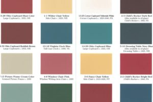 Milk Paint Color Chart