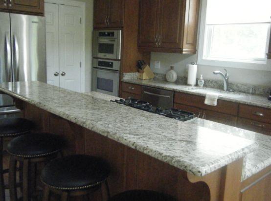 Multi-Level Kitchen Island Design