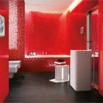Red Cold Full Of Energy Bathroom From Italian