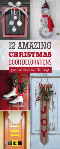 12 Amazing Christmas Door Decorations You Can Make On The ...