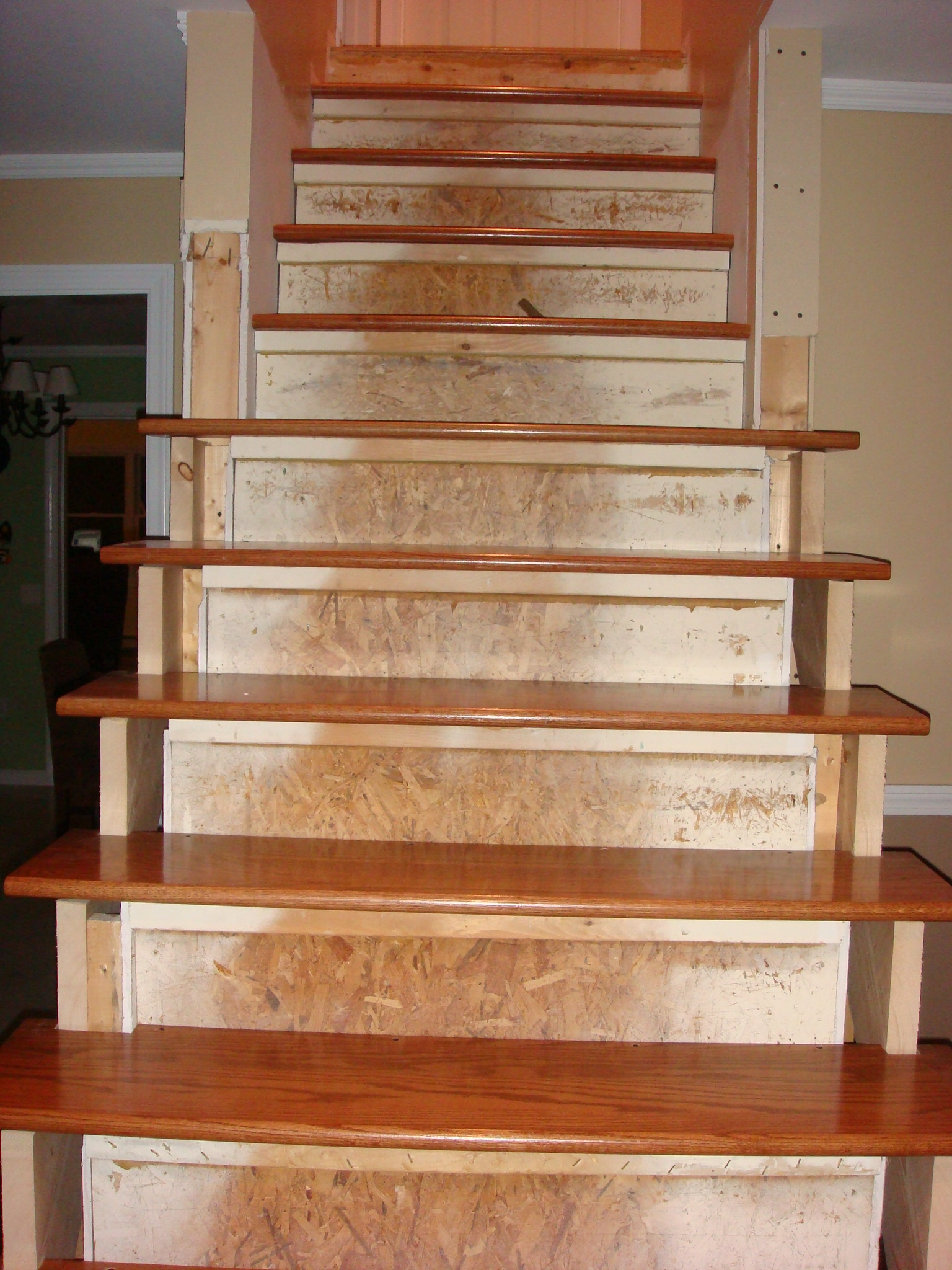 Building Wood Stairs Handy Man Crafty Woman   Wood Stair Treads And Risers