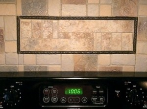 Tile Oven Back Splash