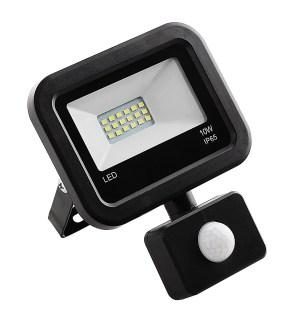 LED prožektor Tesatek liikumisanduriga 10W, must