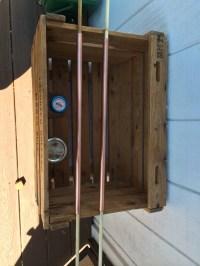 Redwood & copper bar cart | Handy Murse