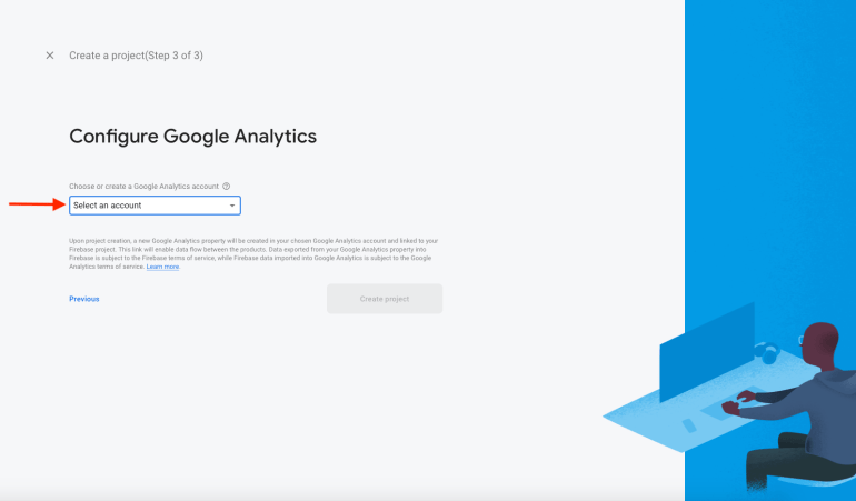 Select or Create Google Analytics Account