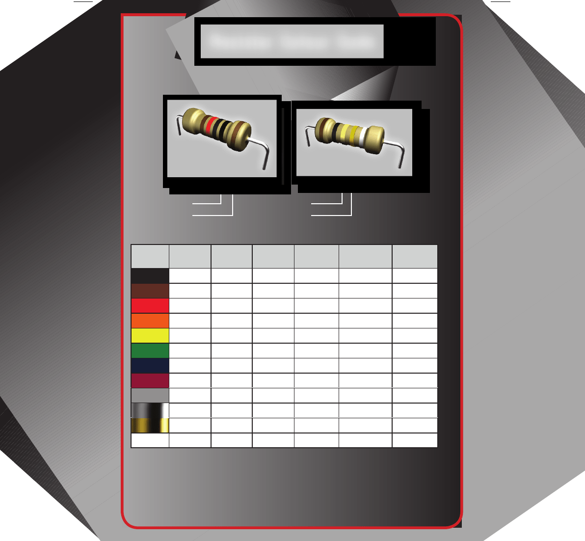 Resistor Color Code Chart Sample