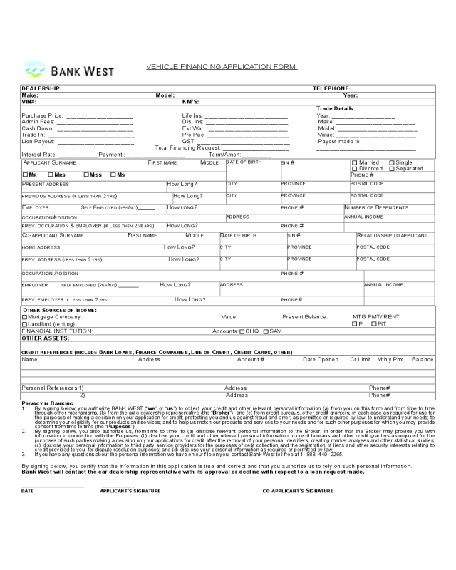 """An asset purchase agreement, or """"apa"""", allows a business to sell its tangible or intangible property. 2021 Car Loan Application Form Fillable Printable Pdf Forms Handypdf"""