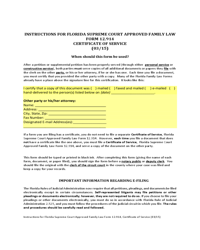 2018 Certificate of Service Form - Fillable, Printable PDF & Forms ...