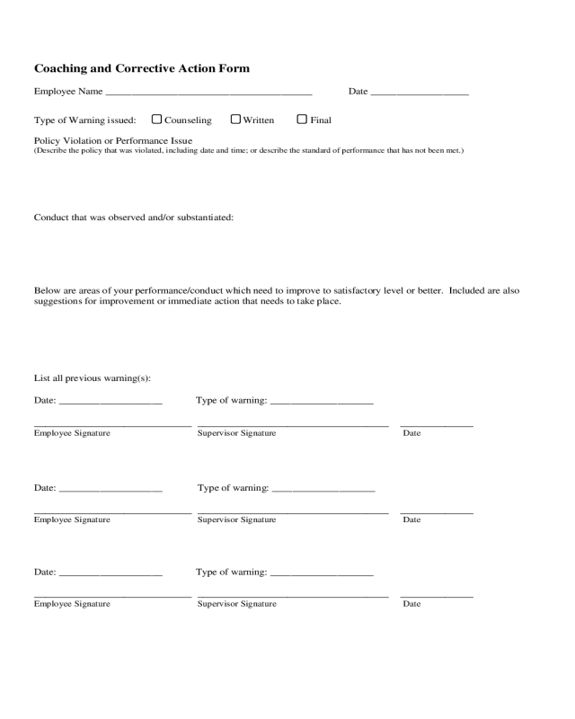 Looking closely at the reports employees enter through zip checklist is another way to help dig toward the cause. 2021 Corrective Action Plan Template Fillable Printable Pdf Forms Handypdf