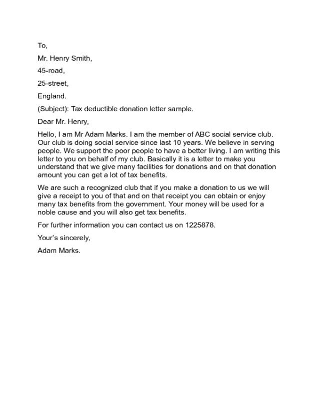2018 Donation Letter Templates