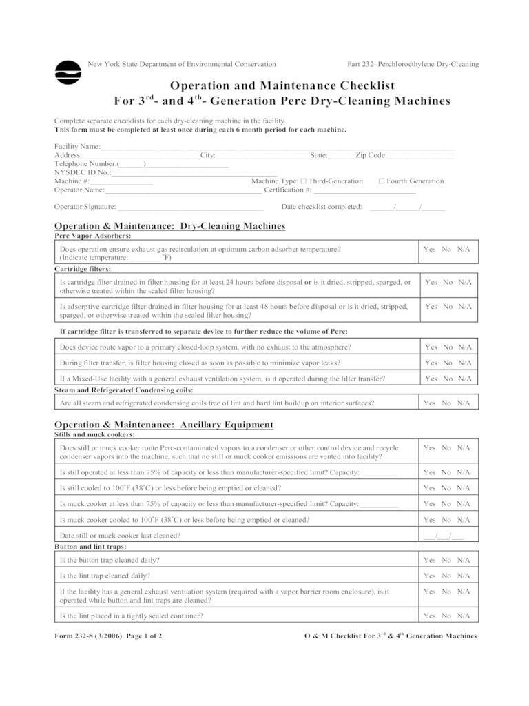 2018 Maintenance Checklist Template - Fillable, Printable PDF ...