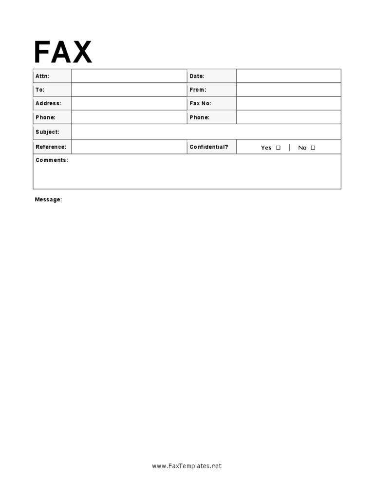 Sample Modern Fax Cover Sheet