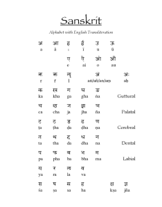 Sanskrit alphabet with english transliteration also chart fillable printable pdf  forms rh handypdf