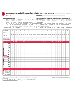 Temperature log for refrigerator also fridge chart template fillable printable pdf rh handypdf