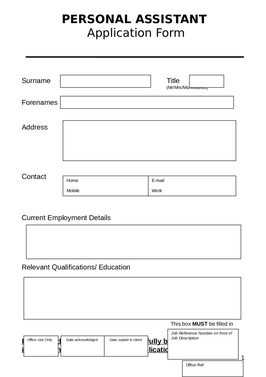 Gallery of Related Post ~ Application Forms