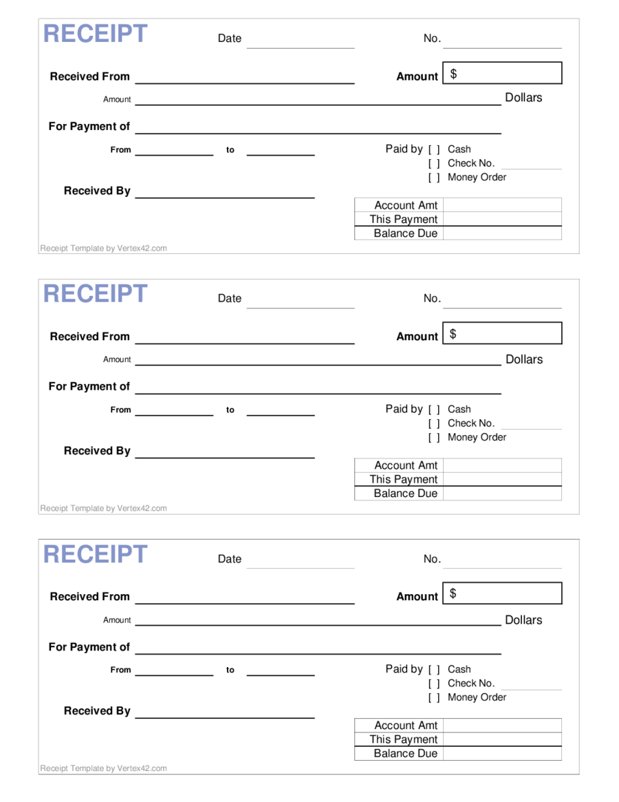 Blank Receipt Template New For Business
