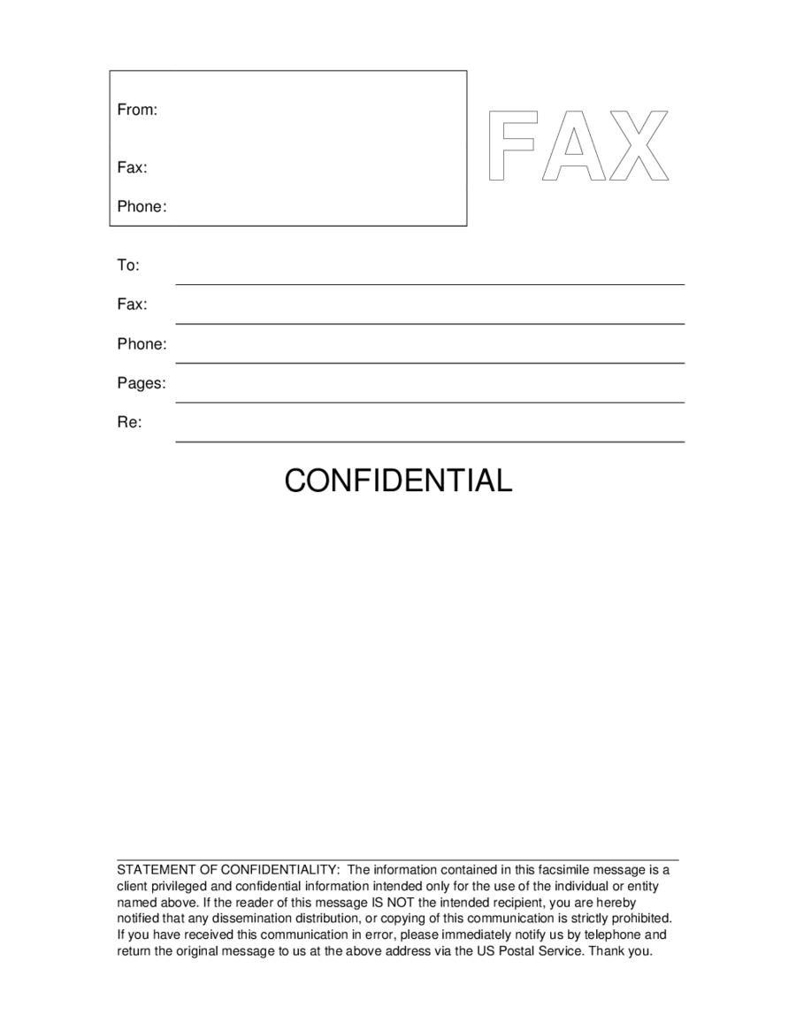confidential fax