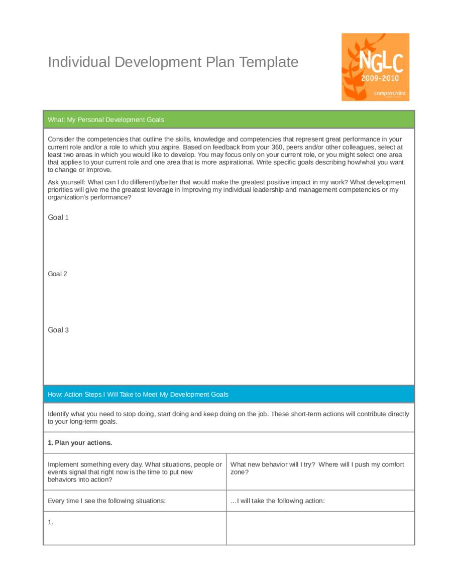 Personal Leadership Development Plan Example - Edit. Fill. Sign Online | Handypdf