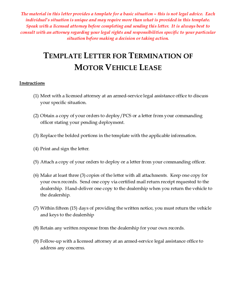 Lease Termination Letter Template New