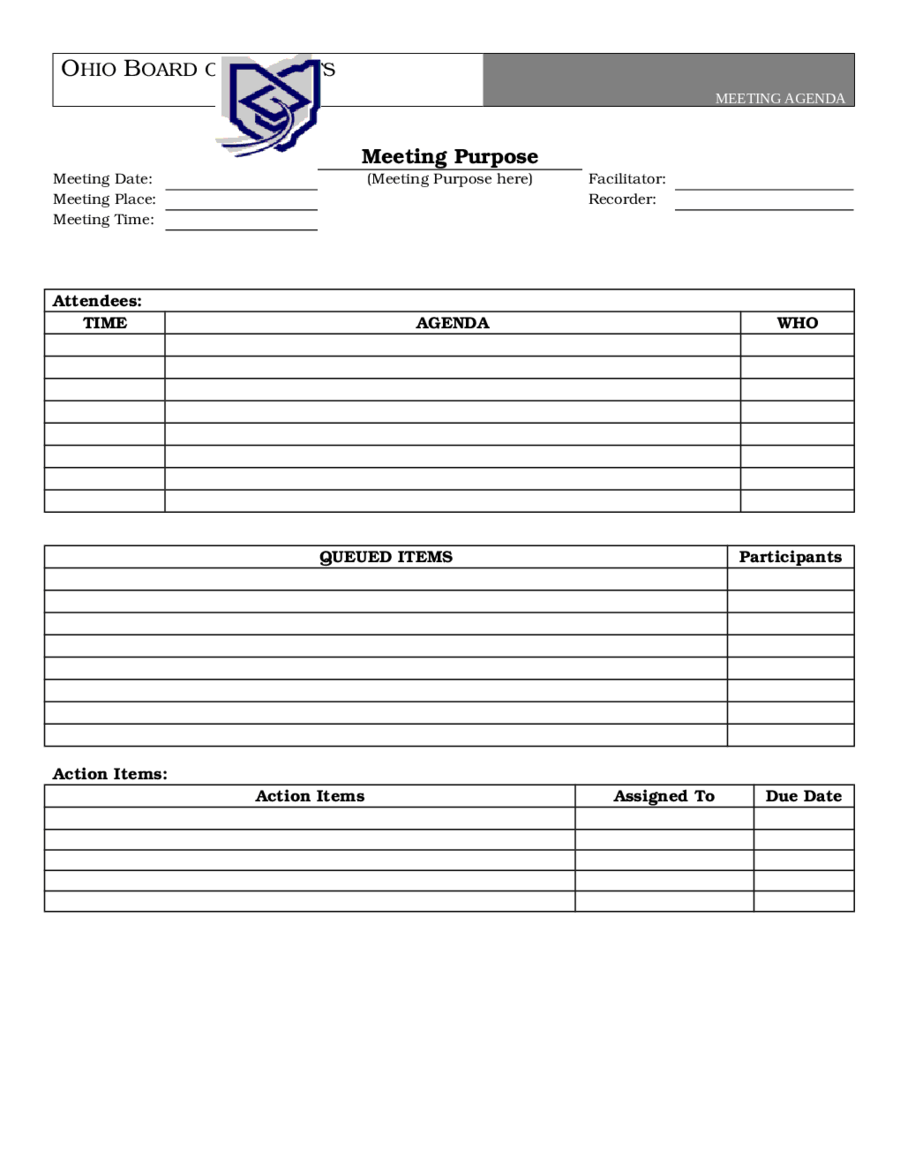 It helps you stay on track and accomplish important goals. 2021 Meeting Agenda Template Fillable Printable Pdf Forms Handypdf