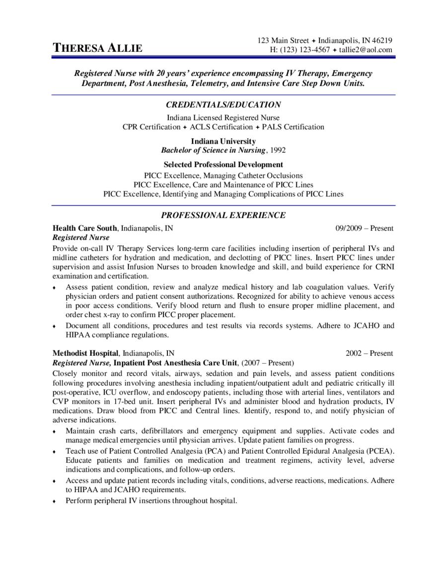 registered nurse resume examples registered nurse resume
