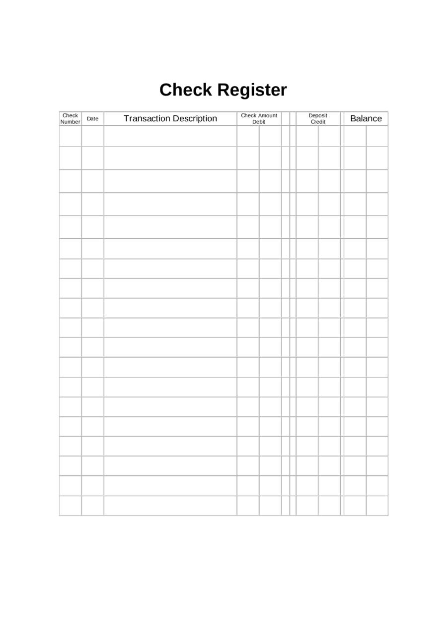 2018 Checkbook Register
