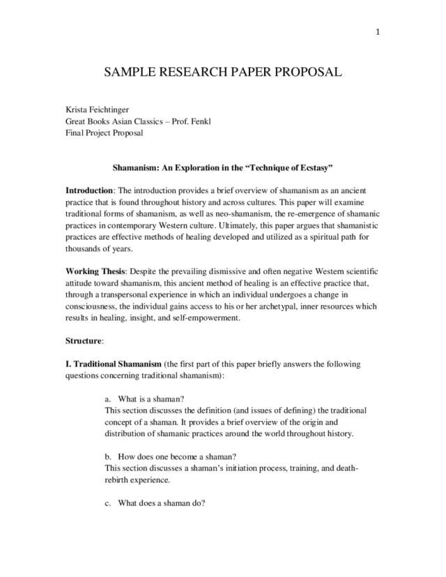 29 Research Proposal Template - Fillable, Printable PDF & Forms