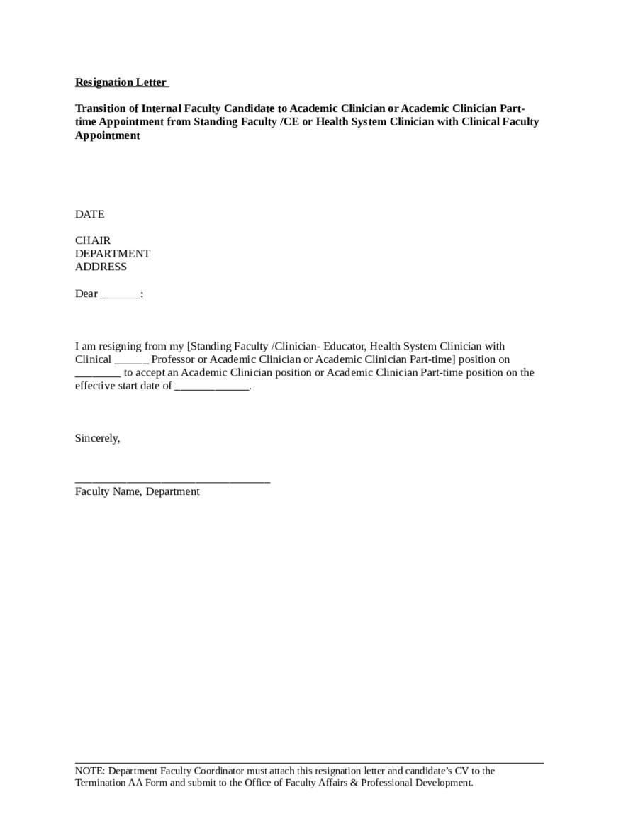 2019 Resignation Letter Samples  Fillable Printable PDF  Forms  Handypdf