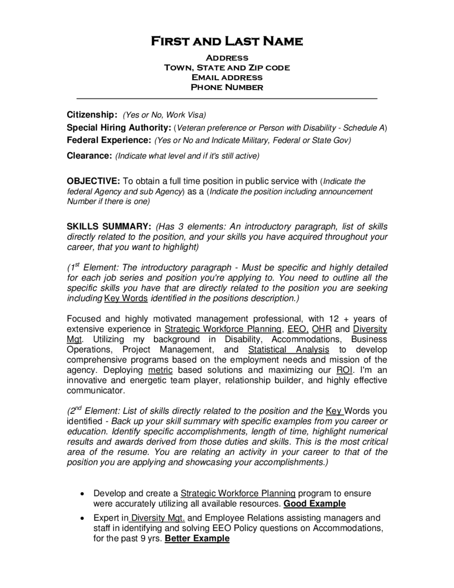 2017 Resume Objective Examples Fillable Printable PDF & Forms